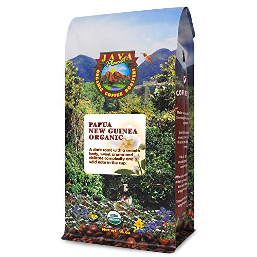 Organic Coffee Beans - Dark Roast Papua New Guinea, Fair Trade Whole Bean Coffee, Arabica Gourmet Coffee Beans 1lb