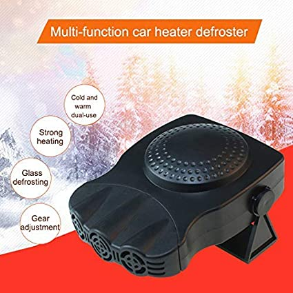 Red, 24V ASOSMOS Mini Car Heater,Defrost Defog Electric Fan ,12V Windshield Windows Glass Heated Device,for Snow Removal Winter Auto Electronic Windscreen Heater Fan Defroster Demister