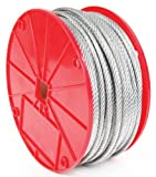 Koch 003122 Cable, 7 by 19 Construction, Trade Size 1/8 by 250 Feet, Galvanized Finish