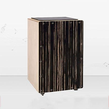 irugh Cebra Negra Cara Cajon Drum Cajon Caja Tambor Tambor música Mano Instrumento de percusión de Tambor: Amazon.es ...