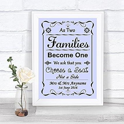 Letrero de boda personalizado con texto en inglés Lilac As ...