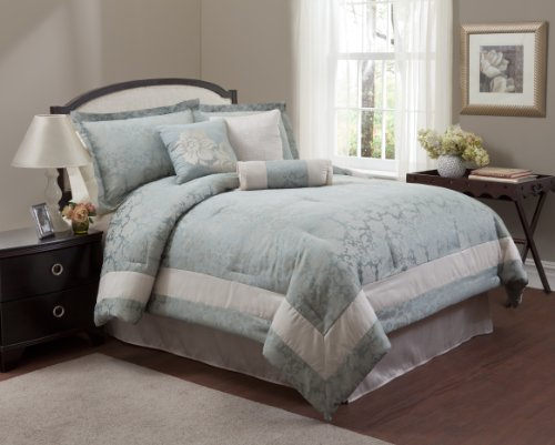 Pale Blue Comforter: Light Blue And White Comforters And Bedding Sets