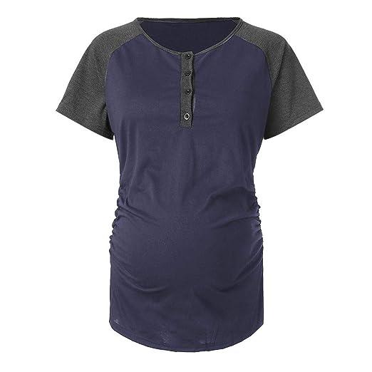 Amazon.com: YKARITIANNA Women Soft Patchwork Block Tops Maternity Long Sleeved Striped Nursing Blouse: Arts, Crafts & Sewing