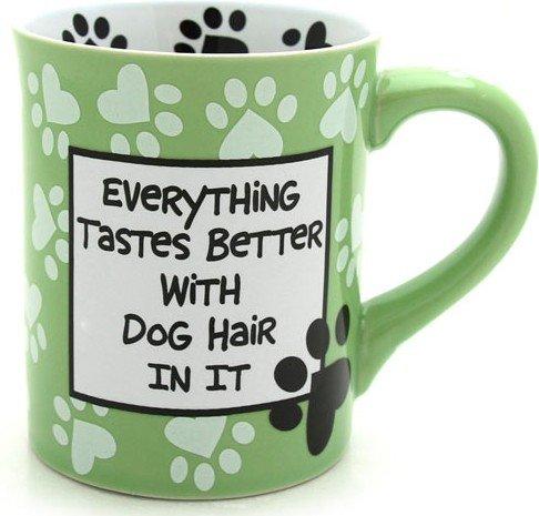 Enesco 4026113 Our Name Is Mud by Lorrie Veasey Dog Hair Mug, - Mug Hair