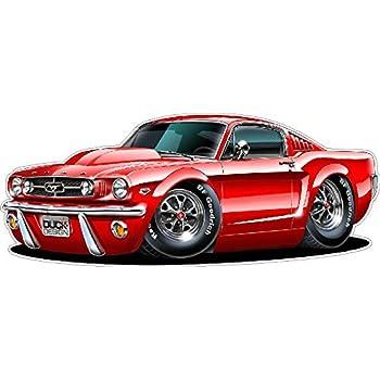 Amazoncom 1965 Mustang Gt Fastback 289 Cartoon Car Wall Graphic 24