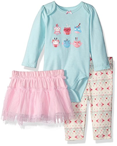 Vitamins Baby Girls' 3 Piece Skirt Legging Set, Owl, for sale  Delivered anywhere in USA