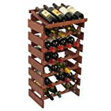 28-Bottles Wine Rack with Display Top