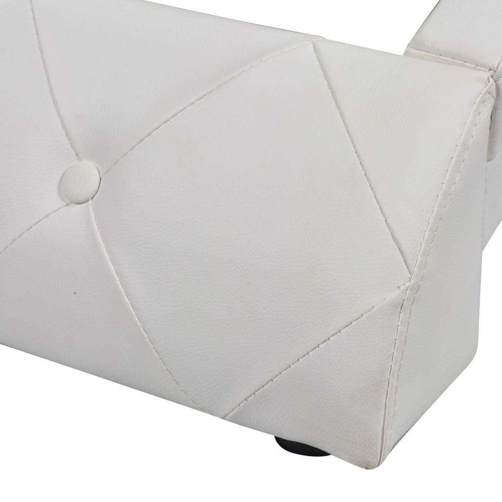 Colore: Bianco Telaio per Letto Matrimoniale 160 x 200 cm in Similpelle SHENGFENG