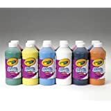 Crayola Artista II Washable Liquid Tempera Paint, Set of 12, 16oz , Assorted Colors (54-8216)