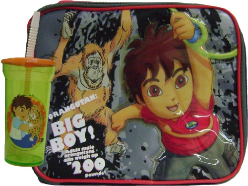 Diego New Insulated Lunch Box and Cup with straw