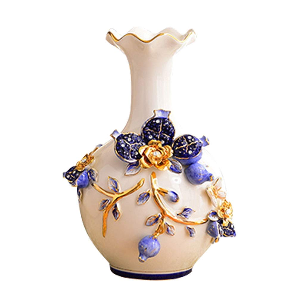 LIULIJUN ヨーロッパの花瓶の装飾リビングルームフラワーアレンジメントクリエイティブセラミックテーブル家の装飾装飾 B07T33NY2Y