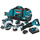 Makita XT610 18V LXT Lithium-Ion Cordless 6-pc. Combo Kit (3.0Ah),