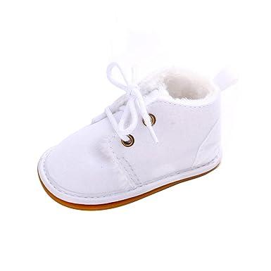 YanHoo Zapatos para niños Bebé niño pequeño Botas de Nieve para niños Zapatos Suela de Goma