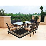 Braddock Heights 7-Piece Patio Dining Set, Seats 6 Review and Comparison