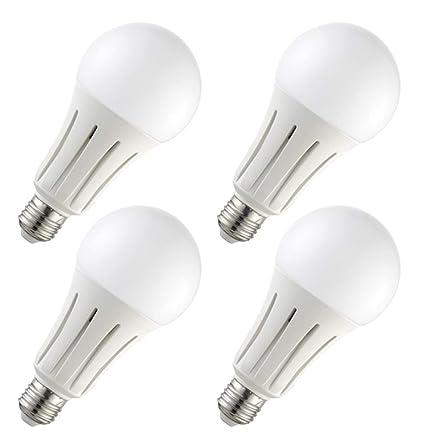 4x Bombilla LED greenandco® IRC 90+ E27 24W (corresponde a 150W) opaca