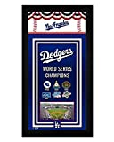 Los Angeles Dodgers Miniframe World Series Championship Banner 7x13 Framed Sports Photo