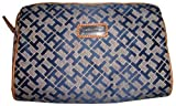 Tommy Hilfiger Women's/Girl's Cosmetic Bag, Blue/Gray Alpaca