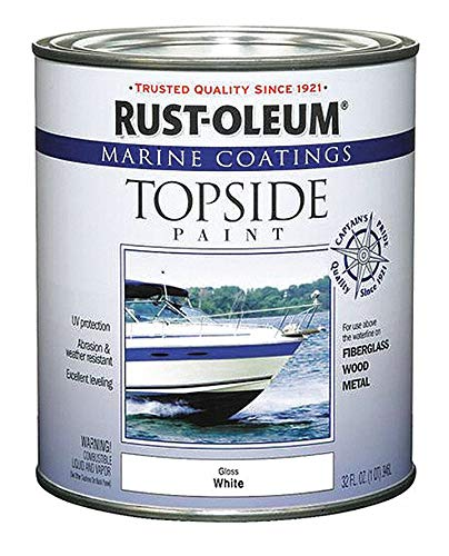 Rust-Oleum 206999 Marine Topside Paint, Gloss White, 1-Quart