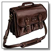 Bashful Billionaire's Leather Briefcase - Brown