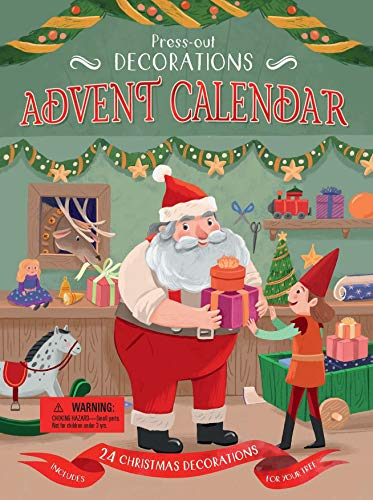 Press-Out Decorations: Advent Calendar: Includes 24 Christmas Decorations For Your Tree