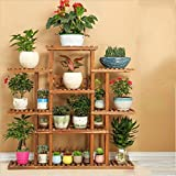 Wooden flower frame / balcony living room multi-storey indoor and outdoor flower pot rack / flower shelf ( Style : A )