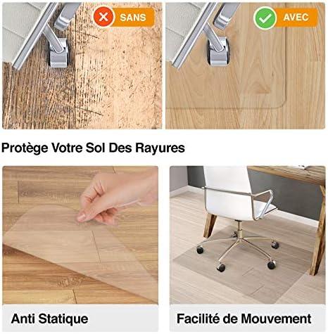 Tapis Protège Sol Office Marshal® NEO Pour Parquets, Stratifiés, Lino   Tapis de Bureau Transparent en Vinyle   11 Tailles au Choix   Epaisseur env.