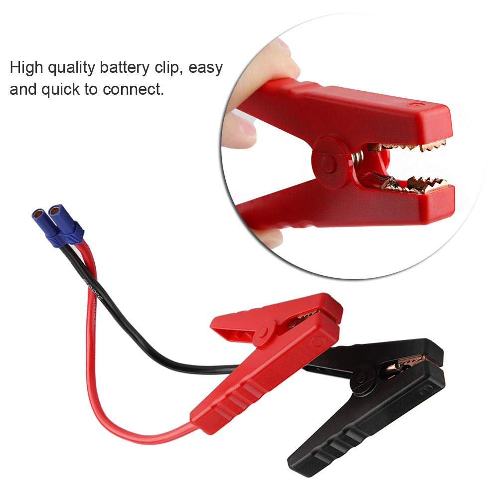 dispositivo davviamento per salto demergenza Morsetto per elettrocatetere Morsetto per elettrocatetere Connettore per spina EC5 12V Clip per batteria auto