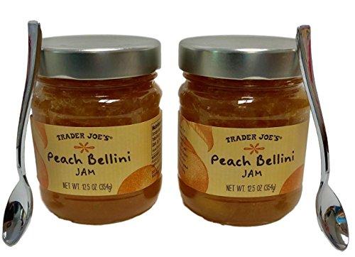 Trader Joe's Peach Bellini Jam With 2 Serving Spoons - 2 Jar Bundle