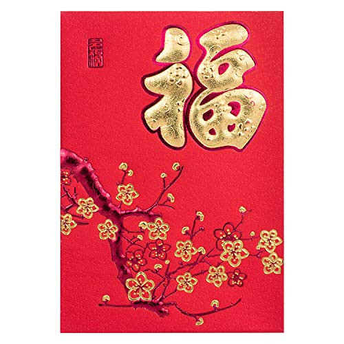KI Store Chinese Red Envelopes for Lunar New Year 2020 Year of Rat Hong Bao Packet Lai See 38 pcs for Spring Festival, Wedding, Graduation, Birthday, and Baby