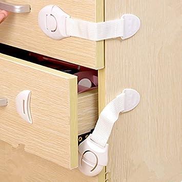 Treasure-house 6 Pack Niño seguridad armario Locks – bebé correa Lock Latch para cajón y armario puerta: Amazon.es: Productos para mascotas