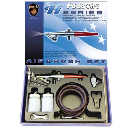 Paasche HS-SET Single Action Siphon Feed Airbrush