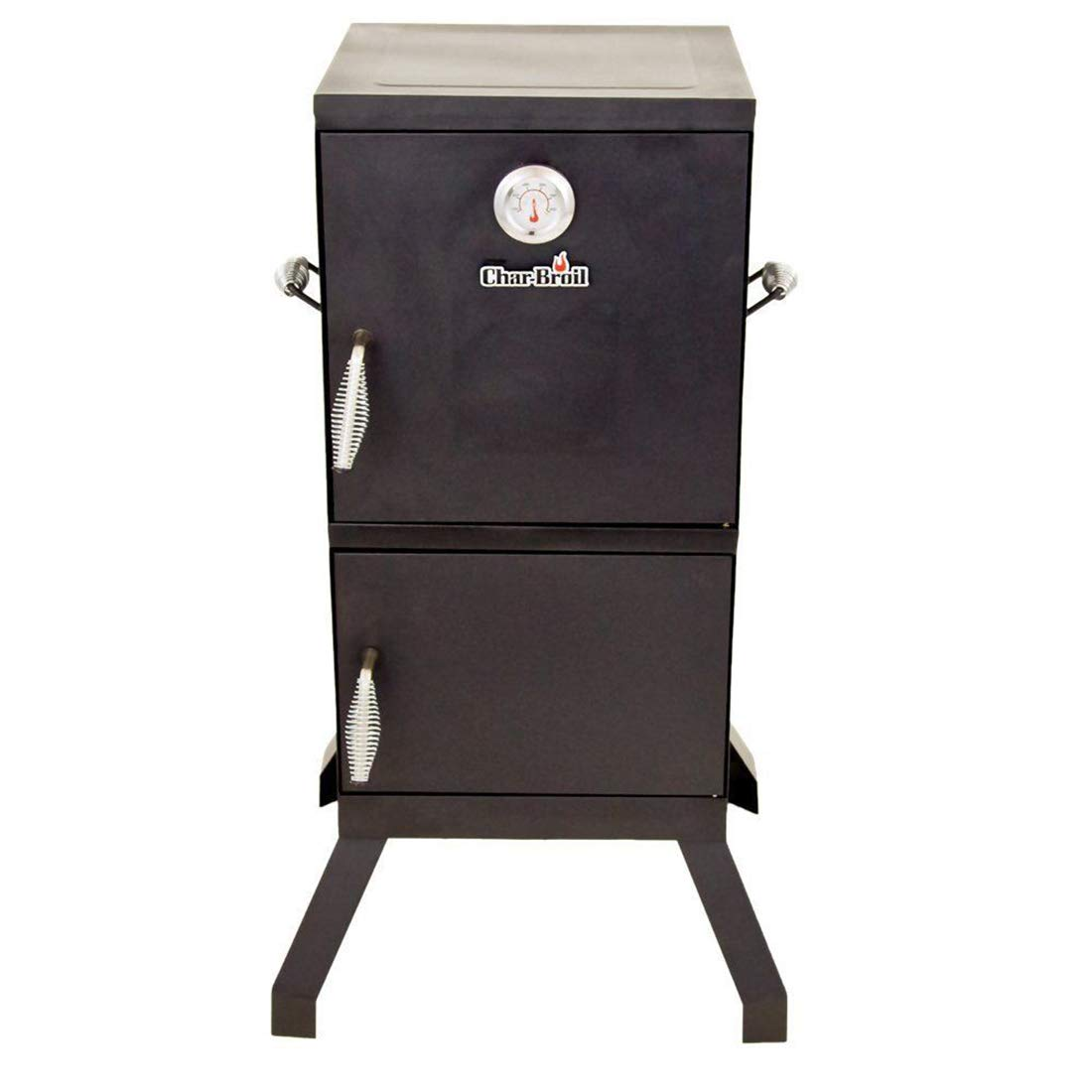 FossExpress New Grill Cooker [Vertical Steel Chamber 21.5 x 20.8 x 39 inches] - Charcoal Smoker - Work Great for BBQ Cooking - Outdoor, Patio Backyard - Black by FossExpress (Image #2)