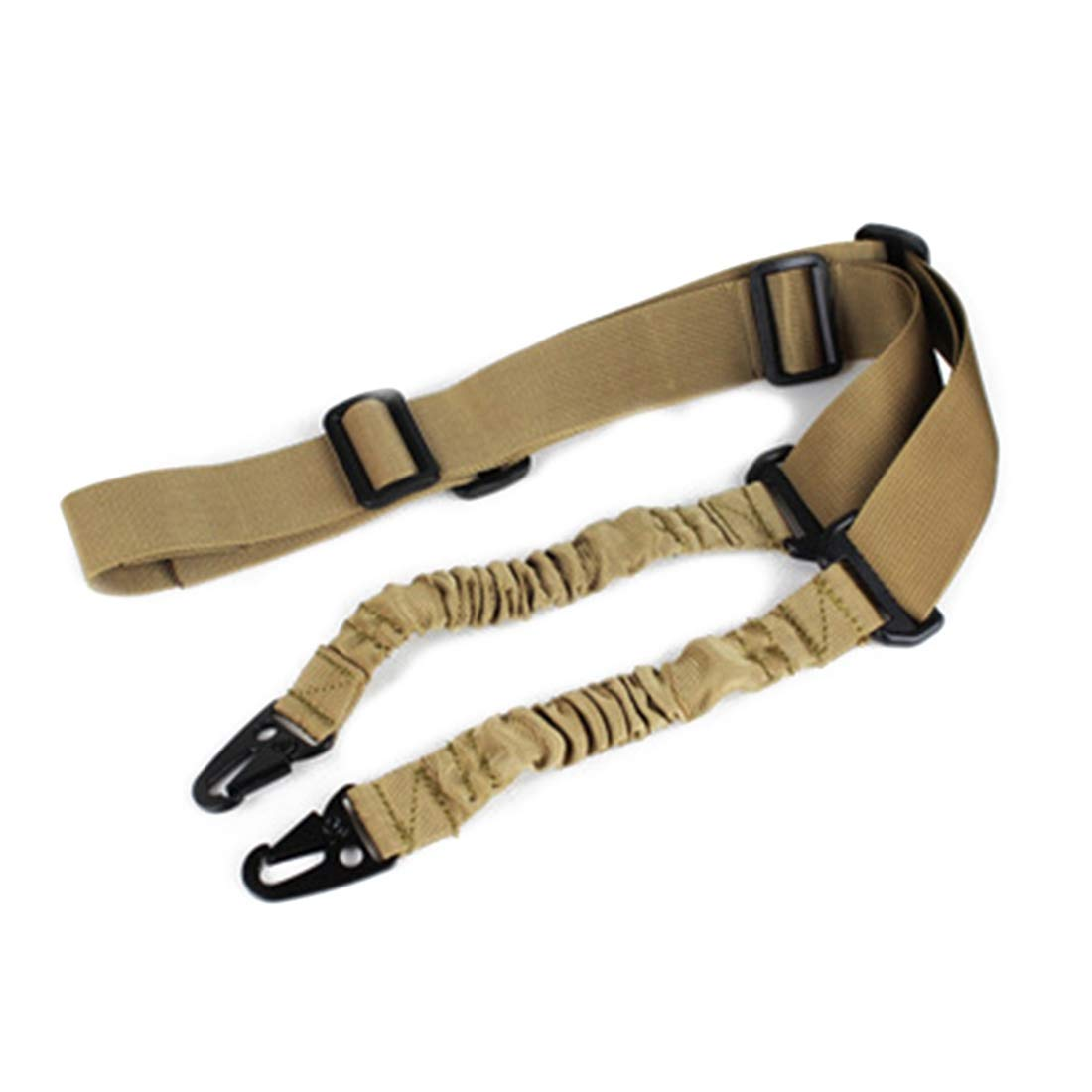 Oraunent Adjustable Neck Strap Sling Tactical Two Point Bungee Sling for SLR Camera Outdoor Green