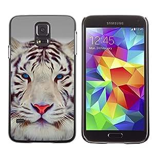 Be Good Phone Accessory // Dura Cáscara cubierta Protectora Caso Carcasa Funda de Protección para Samsung Galaxy S5 SM-G900 // Tiger Cute Eyes Feline Big Cat Winter