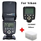 Yongnuo YN-560 IV + YN-560 TX Flash Speedlite Set for Nikon DSLR Camera such as D750 D700 D610 D600 D810 D800 D5300 D5200 D5100 D5000 D90 D80 D3300 D3200 D3100 D3000 D7100 D7000 etc