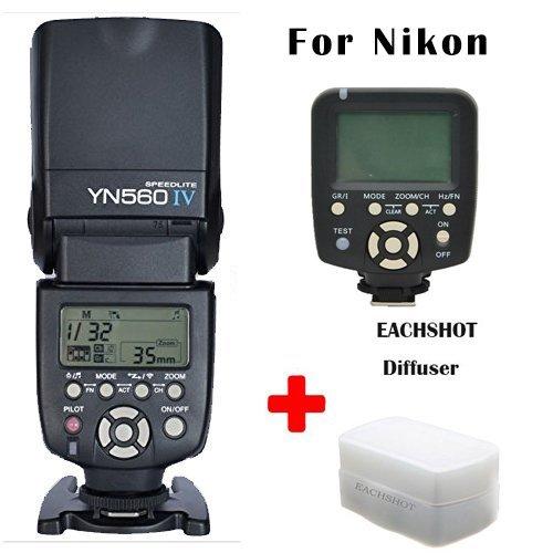 Yongnuo YN-560 IV + YN-560 TX Flash Speedlite Set for Nikon DSLR Camera such as D750 D700 D610 D600 D810 D800 D5300 D5200 D5100 D5000 D90 D80 D3300 D3200 D3100 D3000 D7100 D7000 etc
