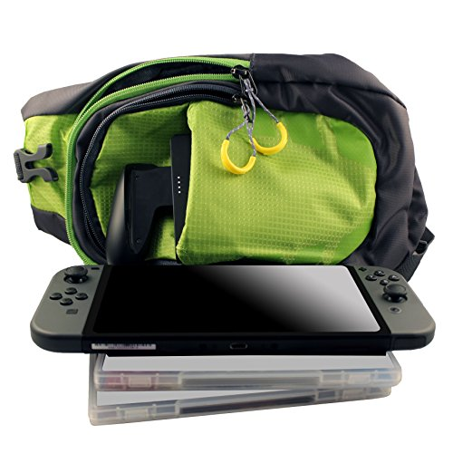 HDE Nintendo Switch Backpack Gamer Elite Crossbody Travel Bag Holds Console  Games Joy-Cons and More ee0d44f002a99