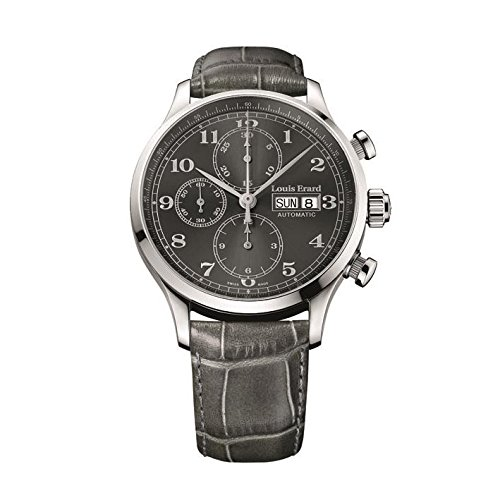 Louis Erard Men's Grey Leather Band Steel Case Sapphire Crystal Automatic Analog Watch 78225AA23.BDC36
