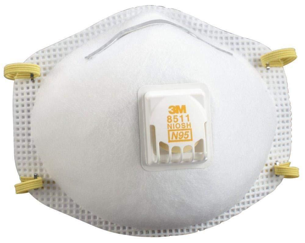 3M 8511 Disposable Series N95 Cool Flow Respirator (50/Box) by 3M Respiratory Protection (Image #2)