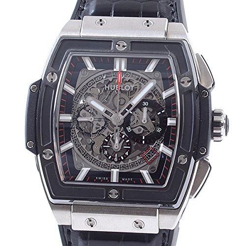 [ウブロ]HUBLOT 腕時計 スピリットオブビッグバン チタニウム セラミック 601.NM.0173.LR 中古[1307543]ブラック 付属:国際保証書 ボックス B07DXG3868