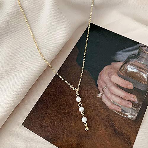 XGLHAMZ Sen Necklace Female Simple Temperament Long Clavicle Chain Summer Niche Necklace
