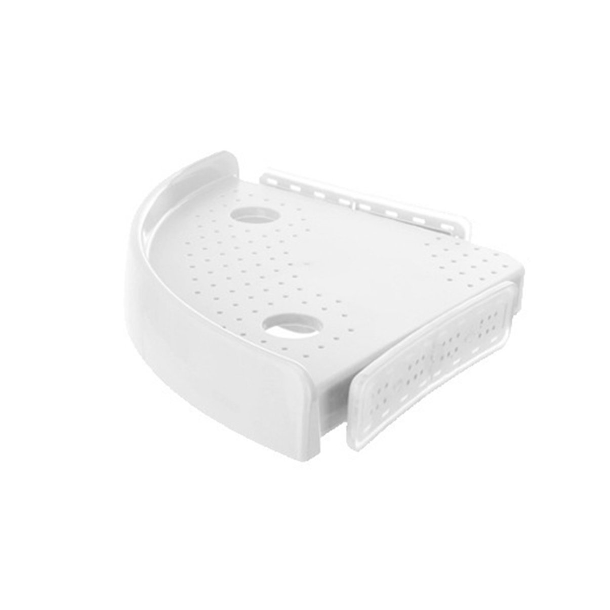 Jullyelegant Corner Shelf, Unit Shelves Kit, Non-marking Triangle Bathroom Snap Storage Rack With Hooks