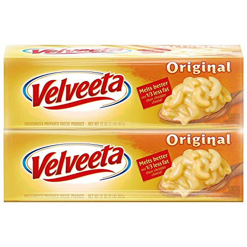 Velveeta Cheese 32 Oz. - 2 Boxes Total 4 Pounds Melts ()