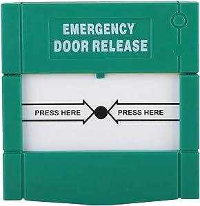Emergency Door Release Break Glass Fire Alarm Green Security Alarm for Home Security