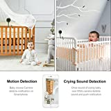 Smart Baby Monitor, 720P Wireless Wifi Video Baby Monitor with Infrared Night Vision, Lullabies, Crying/Temperature / Humidity/Motion Detection Two Way Audio Baby Monitoring Camera (Green)