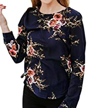 Sumen Women's Summer Short Sleeve Tops T-Shirt Floral Print Blouse Casual Tee