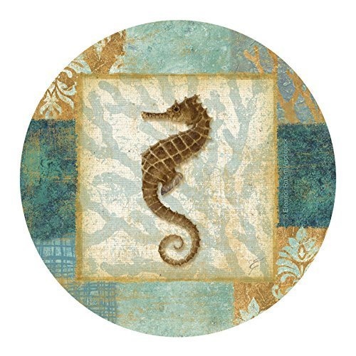Thirstystone Drink Coaster Set, Aqua Seahorse by Thirstystone