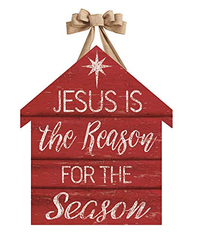 Studio M DD1771 Outdoor-Safe Front Door Décor, 16.5 x 19-Inch, Jesus is The Reason]()