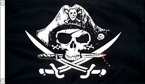 MASSIVE Pirate Skull Crossed Sabres Flag 8'x5' (240cm x (Sabre Pirate)