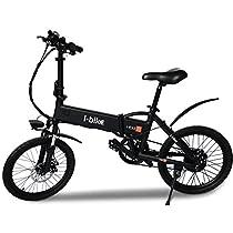 """i-Bike i-Fold, Bicicletta Ripiegabile Elettrica con Pedalata Assistita Uomo, Nero, 20"""""""